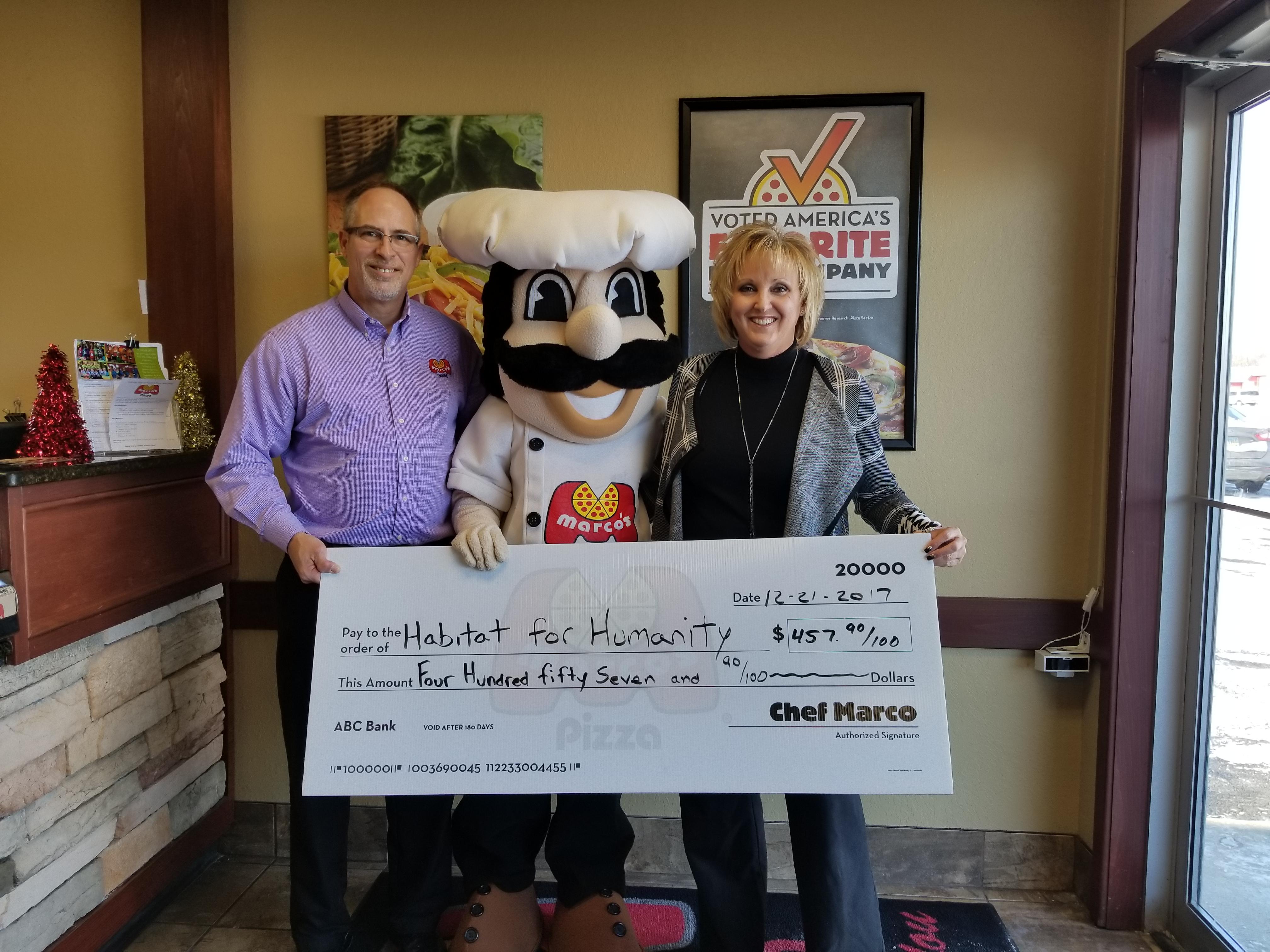 Restaurants & Community Members Raise $2791 for Habitat