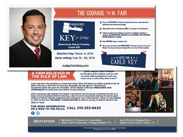 Political Mailing Campaigns Judge Carlo Key Amp Lynda Billa