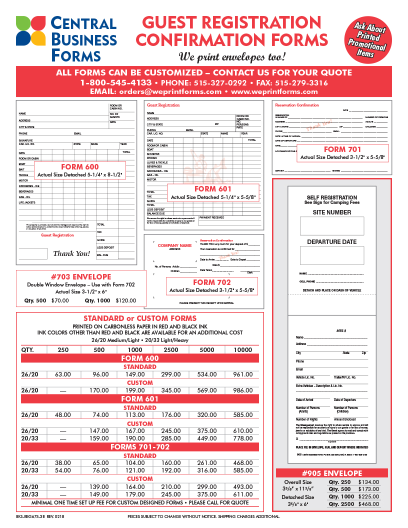 Reservation FORMS