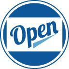 """1 - 6' x 2' """"We're Open"""" Banner"""