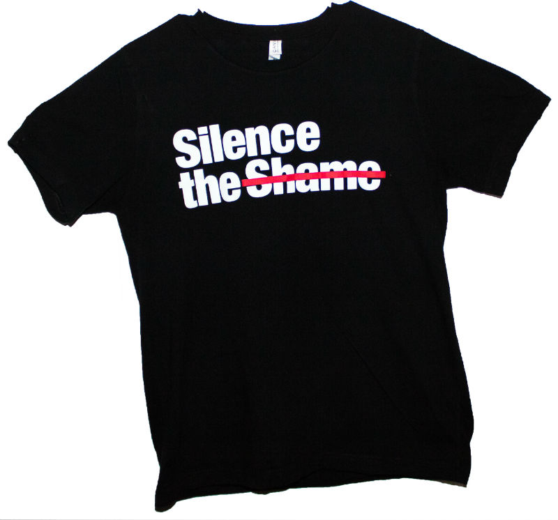 Silence the Shame Signature Black T-Shirt +Size