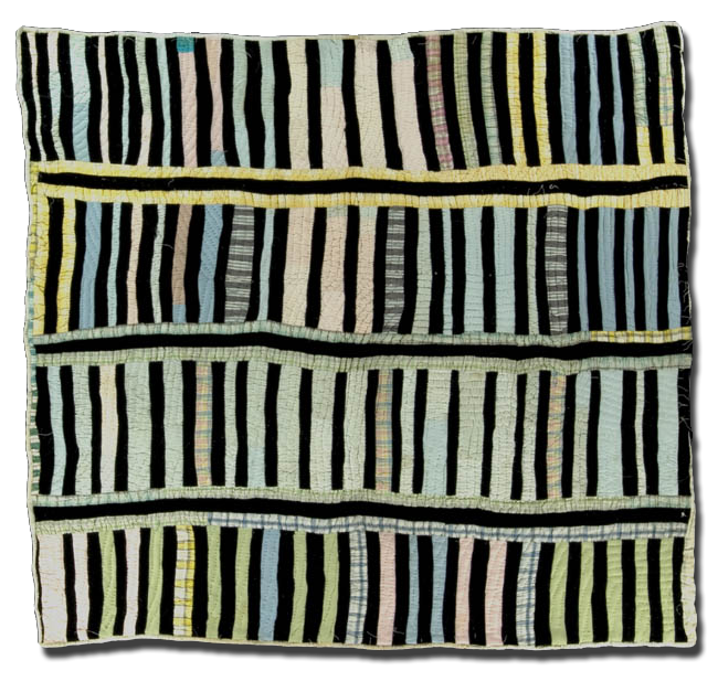 Strip Quilt, Made by Lucile Young, Made in Tuscaloosa, Alabama, United States, Circa 1994, 76 x 73 in, 2000.004.0150