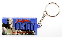 Dignity License Plate Keychain