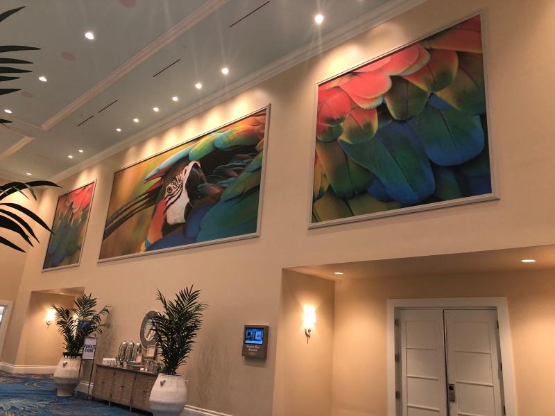 Interior wall art for margaritaville hotel orlando for Hotel wall decor