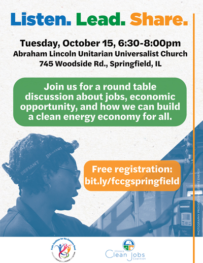 3rd Listen. Lead. Share. about Clean Energy Jobs and Economic Opportunities