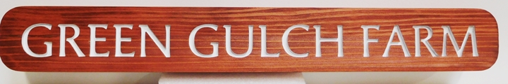 O24096 - Carved Engraved Redwood  Entrance Sign for Green Gulch Farm , 2.5-D