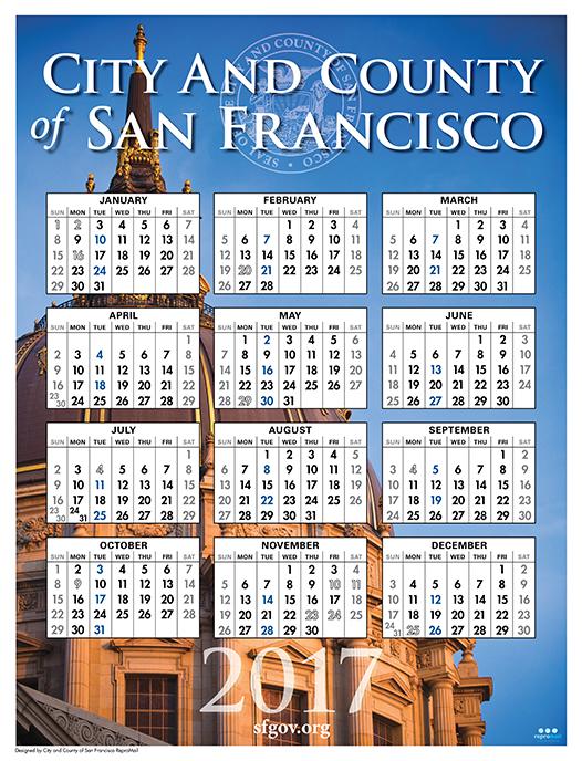 CCSF 2017 City Calendar