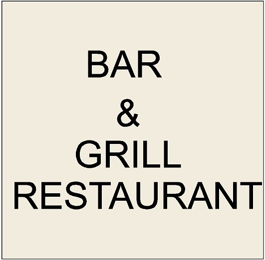 Q25700  - 7. Signs for Bar & Grill Restaurants