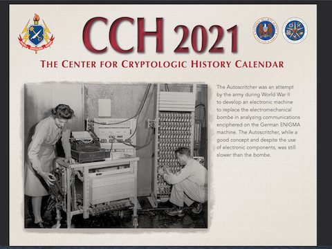 2021 NSA CCH Cryptologic Calendar - Only Available in Digital Format This Year