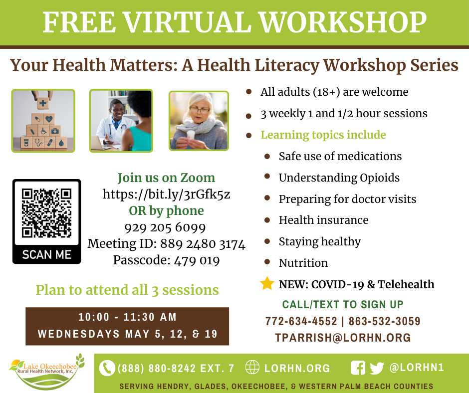 Your Health Matters: Health Literacy Workshop