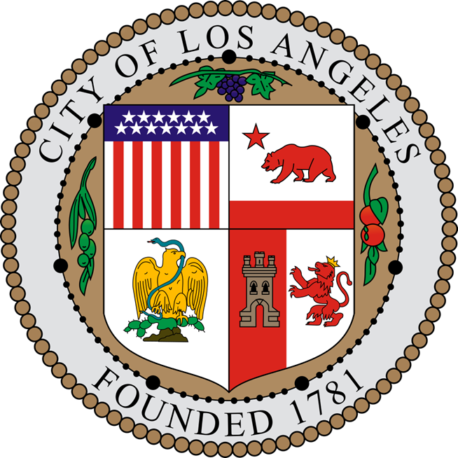 DP-1640 - Carved Plaque of the Seal of the City of Los Angeles, California,  Artist Painted