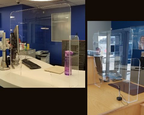 Acrylic Sneeze Guards & Safety Barriers