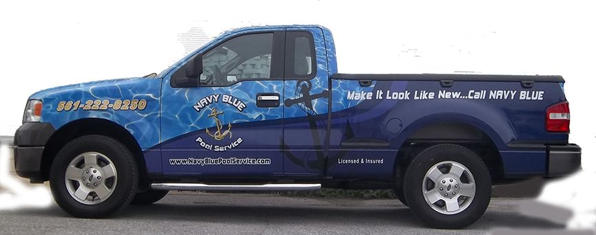 Navy Blue Pool Service