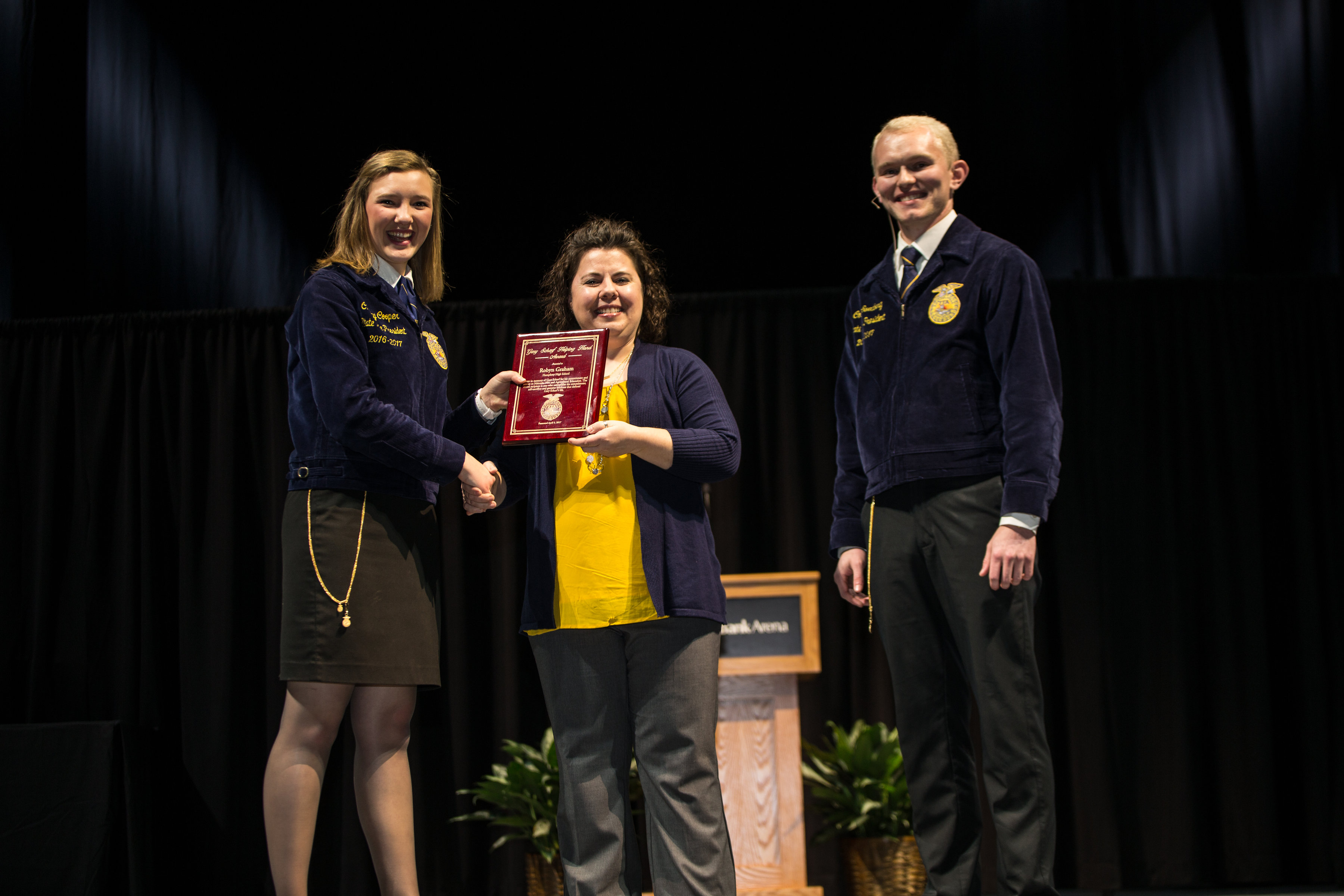 Graham Recognized for Contributions to Humphrey Community and School