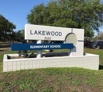 School Monument Sign