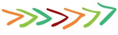 Flavor station arrow logo, custom signs for school café