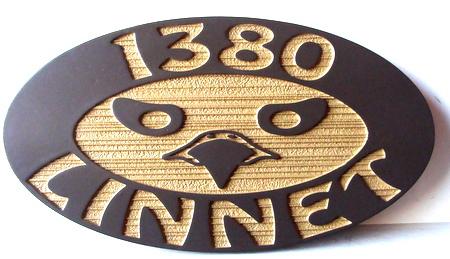 M22130 - Rustic Cabin Address Sign