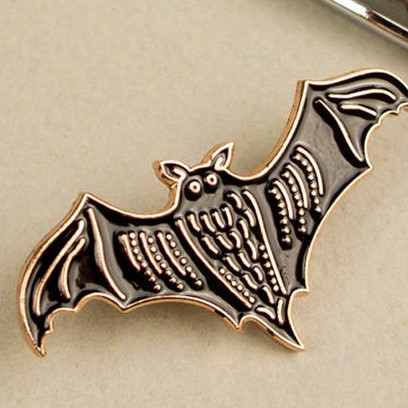 Bat Pin (Black & Rosegold) by Darwin Designs