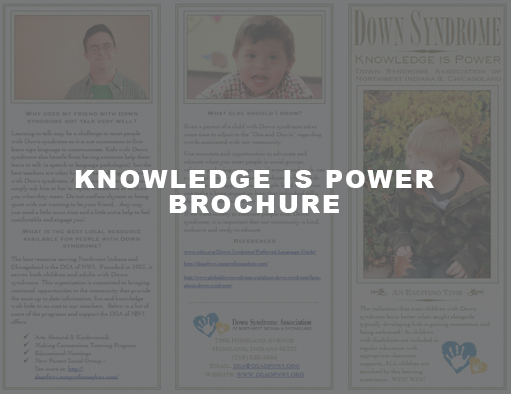 Down Syndrome Informational Brochure