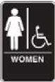 Standard Restroom Sign