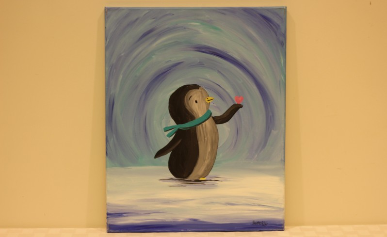 """Baby Penguin"" - Donated by the artist, Carrie ""Butterfly"" Turner"