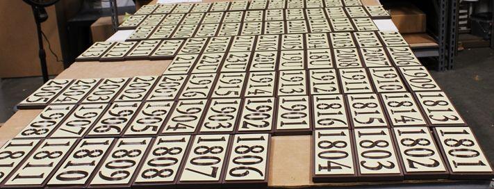 KA20955 - Carved HDU Apartment Unit  Number Signs