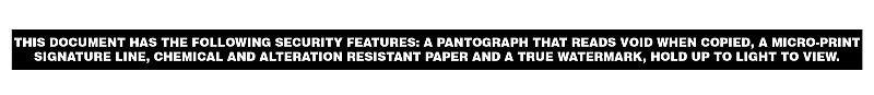 Document Warning Band