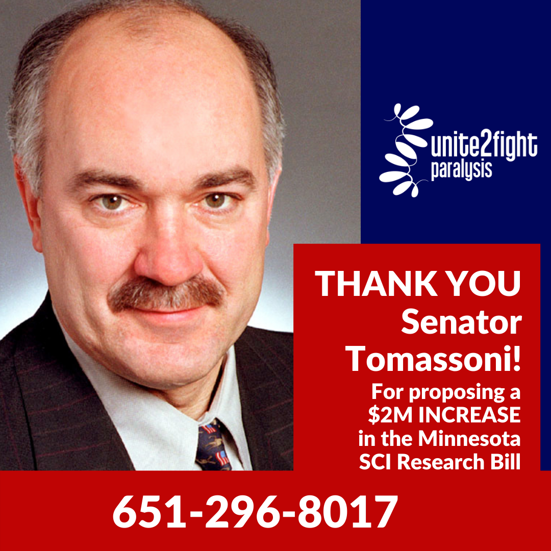 ADDITIONAL $2M proposed to MN SCI Research bill by Senator Tomassoni!