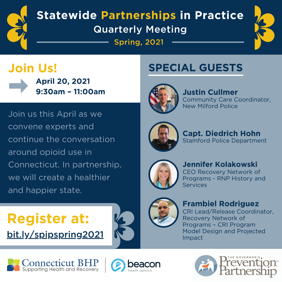 Statewide Partnerships in Practice: Spring, 2021 Quarterly Meeting