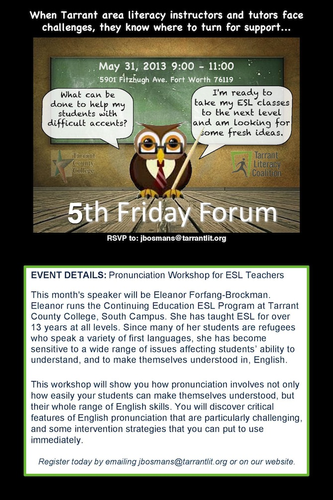 Fifth (Fourth) Friday Forum