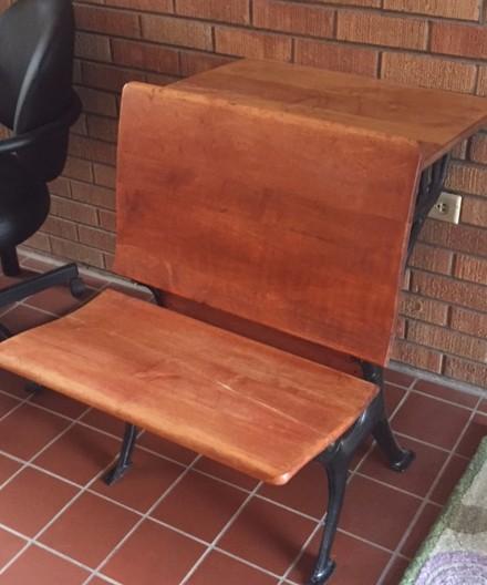 1921 refurbished student desk