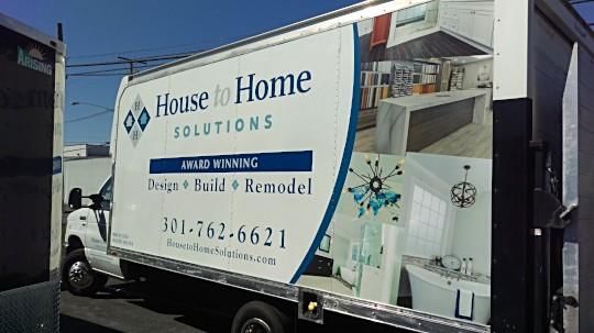 truck vehicle wraps washington dc metro area creative edge signs graphics. Black Bedroom Furniture Sets. Home Design Ideas
