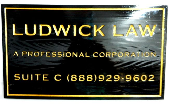 A10030 - Engraved Cedar Wood Law Firm Sign