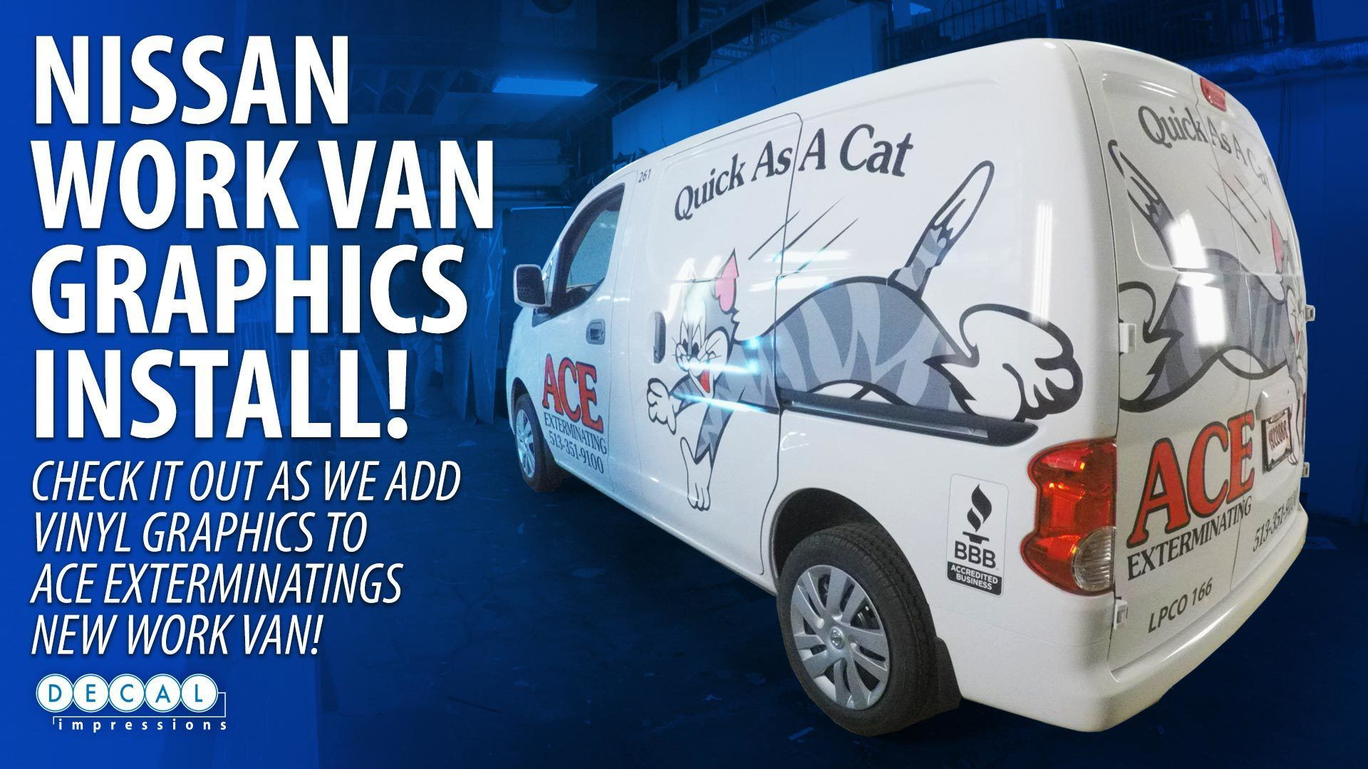 Ace Exterminating Van Wrapping