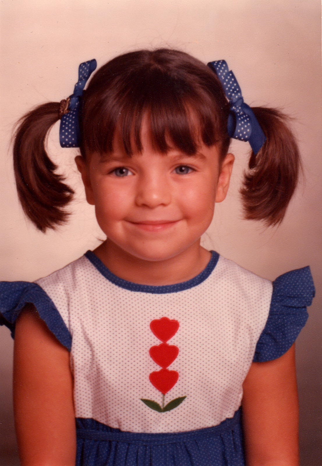 Rachel Nussbaum in first grade, 1982.