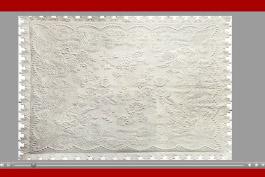 Mischief Stitched in White Thread
