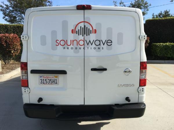Custom van graphics for businesses in Orange County