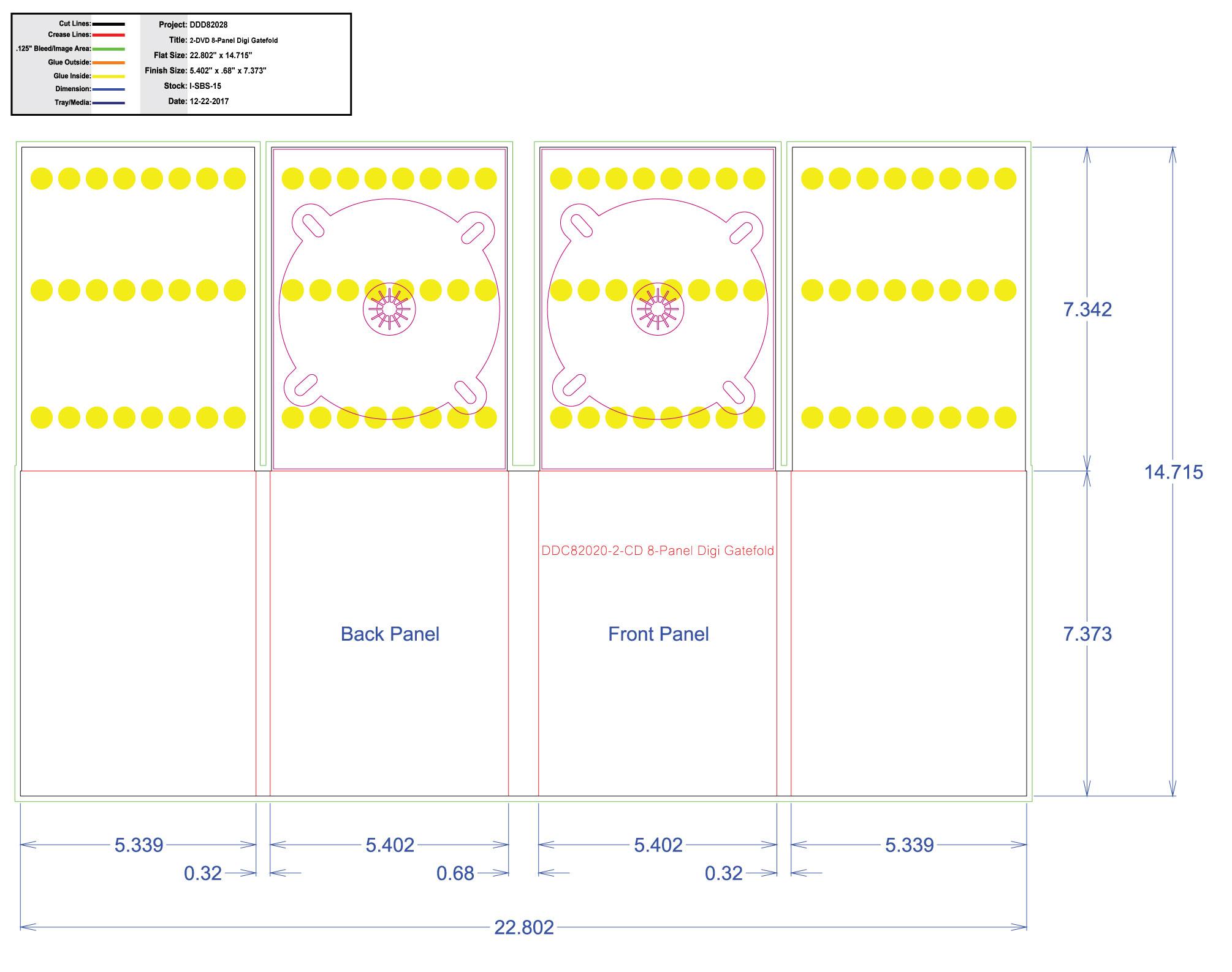 DDD82028 DVD 8 Panel Digi 2 Tray, No Pocket