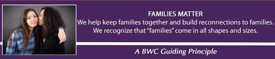 guiding Principle - Families Matter