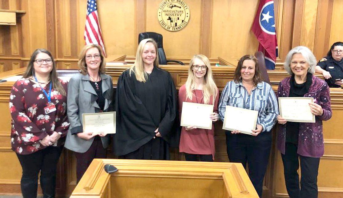 Five new CASA volunteers sworn in