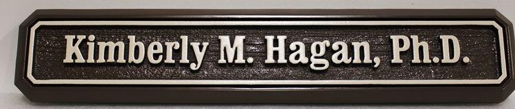 B11366 - Carved and Sandblasted Sign for Kimberley Hagan, Ph.D,