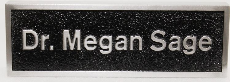 B11367 - Aluminum-plated Wall Sign for Dr. Megan Sage