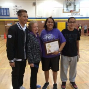 Charlotte Ceballos, John Prasch Health and Physical Fitness Award
