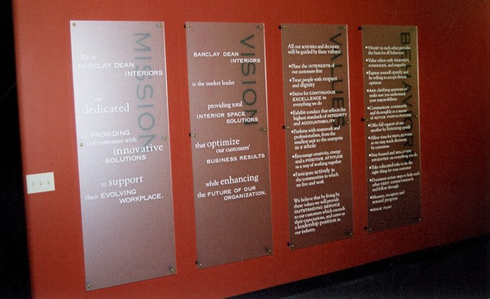 Mission Statement Large Wall Plaques