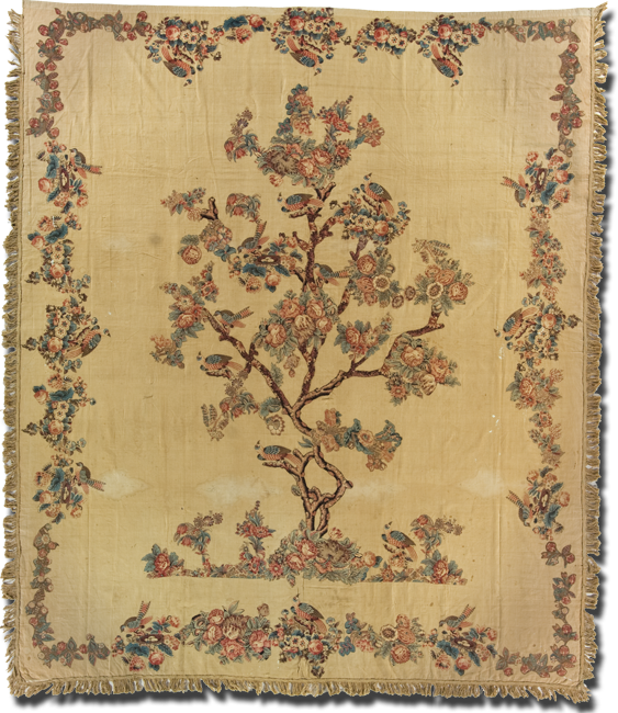 Tree of Life, Maker unknown, Possibly made in United States, Circa 1780-1800, 113.5 x 96 in, IQSC 2008.040.0001