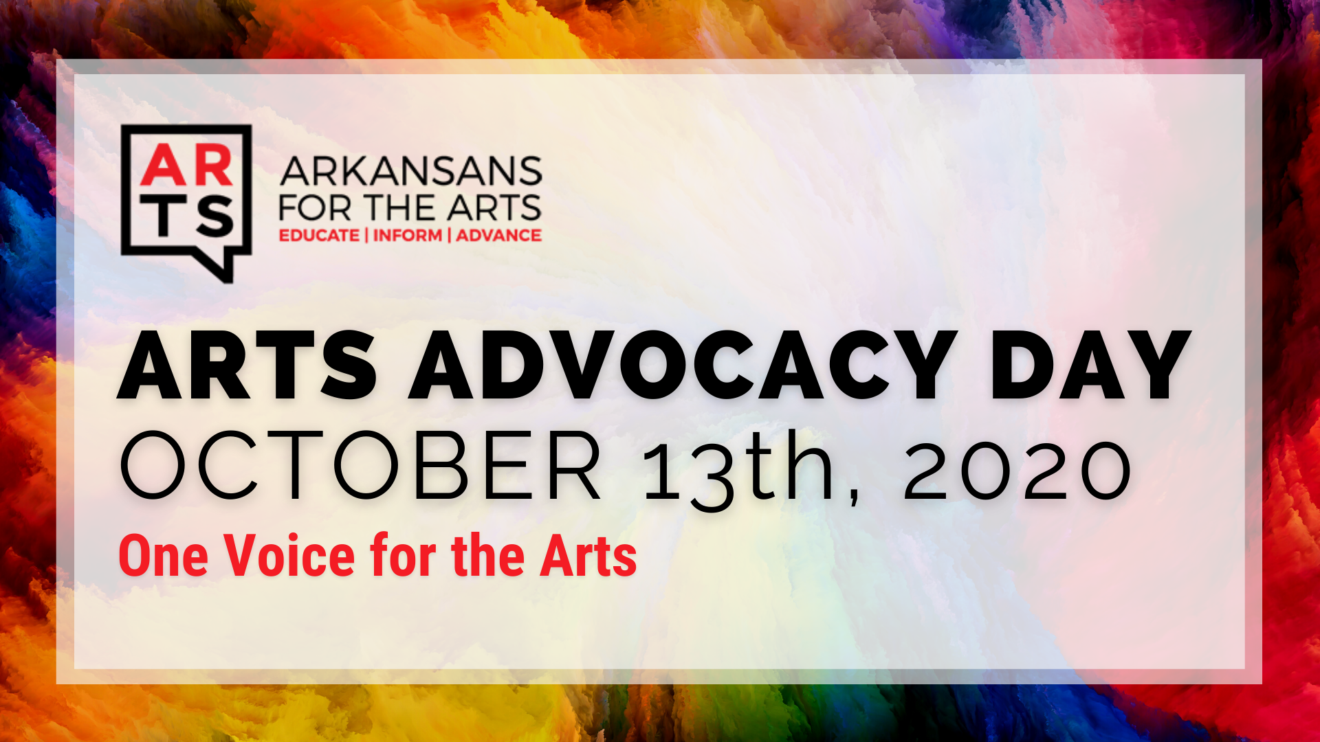 Arkansans for the Arts | Arts Advocacy Day | October 13th, 2020 | One Voice for the Arts