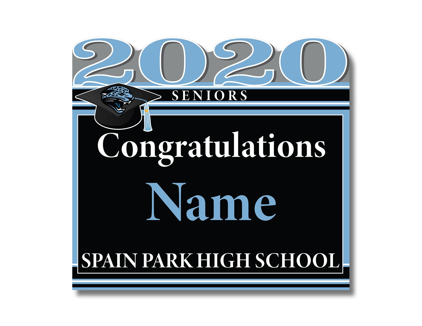 Spain Park 2020 Senior Sign