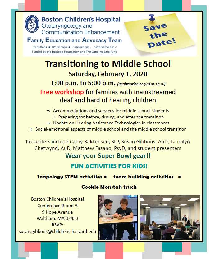 Middle School Transition Workshop