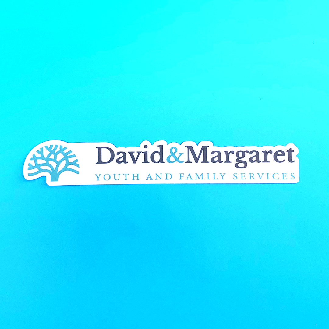 David and Margaret Youth and Family Services Vinyl Sticker