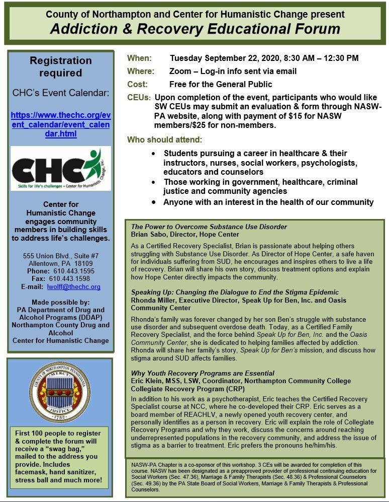 Addiction & Recovery Educational Forum